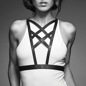 Maze Cross Cleavage Harness Black